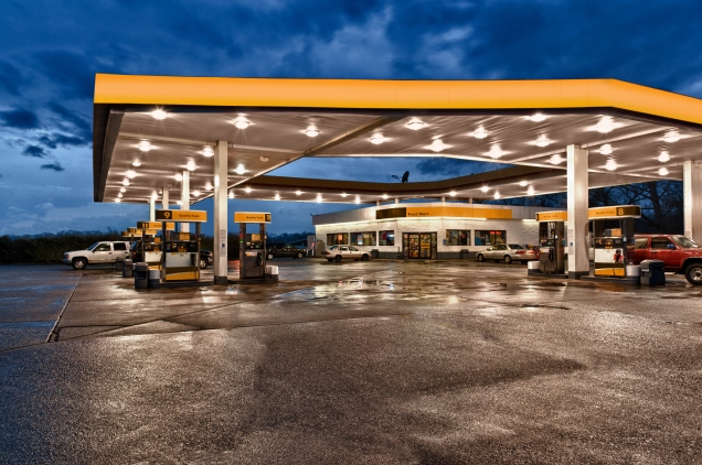 Yellow and Black Gasoline Station Convenience Store